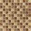Ice Crackle 1x1 Mosaic on 11-5/8 x 11-5/8 sheet in Tan Cream and Chestnut Brown