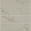 Carrara 3.25x6.5 Polished Porcelain Tile in Statuary white with Gray