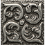 Bedrosians 1x1 Metal Resin Insert Wave Pewter