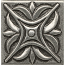 Bedrosians 2x2 Metal Resin Insert Rising Star Pewter