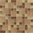 Bedrosians Mosaic Pattern Ice Crackle Gloss-Matte in Cream & Chestnut Brown