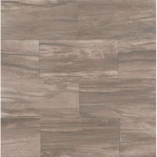Bedrosians 12x24 Athena Field Tile Cliff(Taupe)