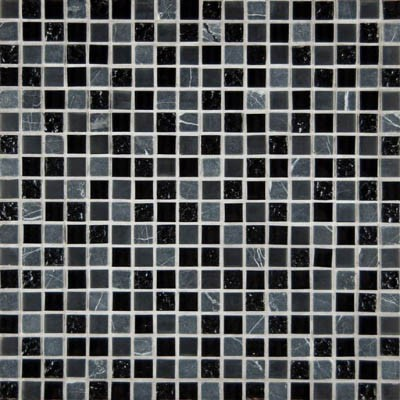 MS International Glass Stone Mix 5/8 x 5/8 Black Marquee