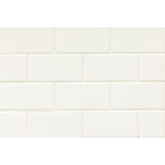 "Bedrosians  Traditions Series 3"" x 6"" Tile in Ice White"