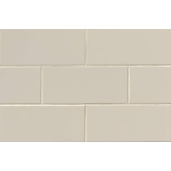 "Bedrosians  Traditions Series 4"" x 10"" Tile in Tender Gray"