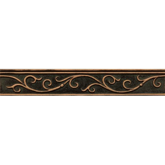 Bedrosians 1-3/4x12 Gothic Leaf Liner Ambiance Venetian Bronze