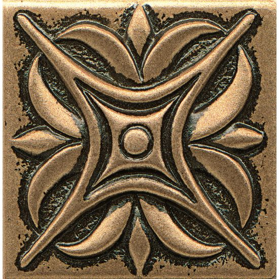 Bedrosians 2x2 Metal Resin Insert Rising Star Bronze