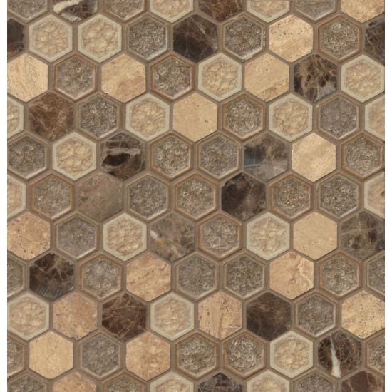 "Bedrosians  Kismet Series 12"" x 12"" Tile in Fantasy"
