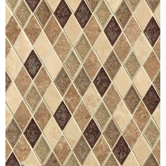 "Bedrosians  Kismet Series 11"" x 11.5"" Tile in Utopia"