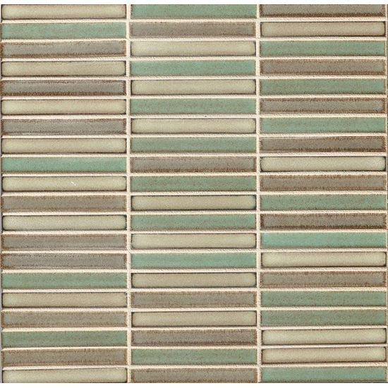 Bedrosians 1/2x4 Straight Joint Mosaic Woodland Blend
