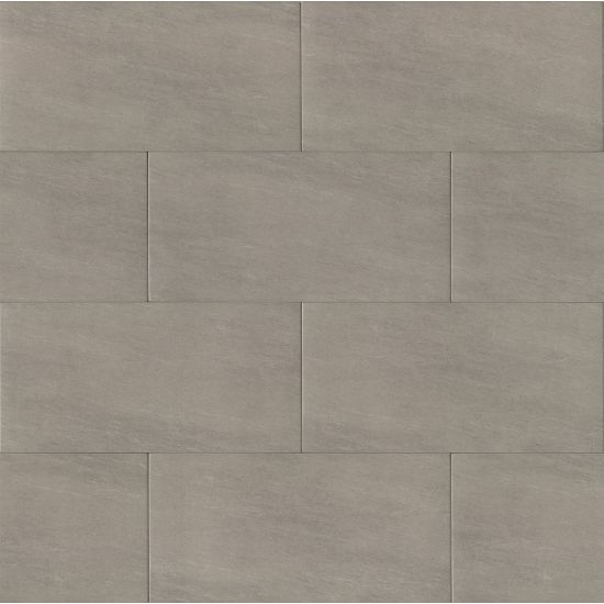 Bedrosians 12x24 Moonstone Field Tile Porcelain Matte Light Grey
