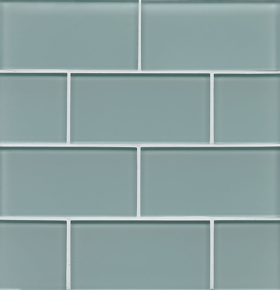 Hamptons Glass 3x6 Field Tile in Sail Blue
