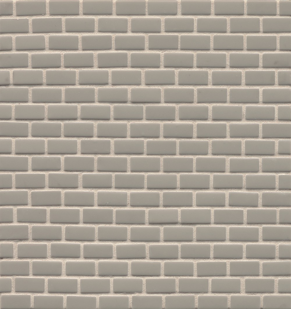 ID-ology Glass 1/2x1 Staggered Mosaic - Solid Matte in Slate