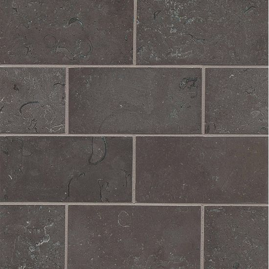 Bedrosians Limestone  Vogue Brown 3x6 Brushed
