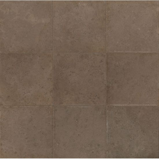 Bedrosians Limestone  Vogue Brown 12x12 Brushed