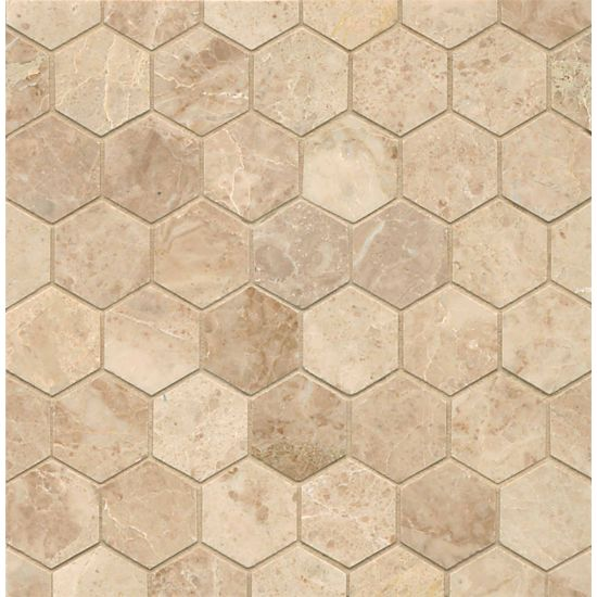 Bedrosians Cappuccino 2 In Hexagon Mosaic Polished -Turkey