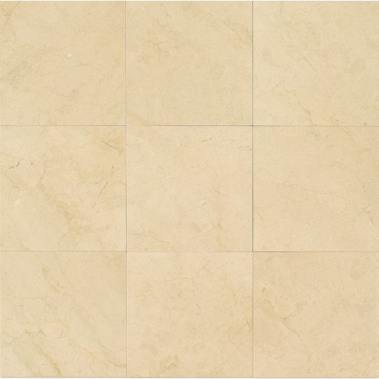 Bedrosians Marble  12 x 12 x 3/8 Crema Marfil Select Honed