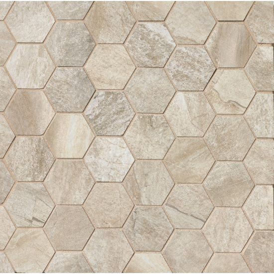 "Bedrosians  Stone Mountain Series 12"" x 12"" Tile in Alabaster"