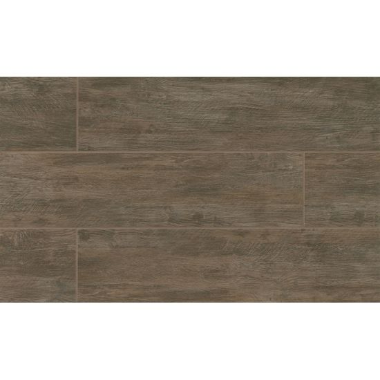 River Wood 8x24 Porcelain Tile in Walnut
