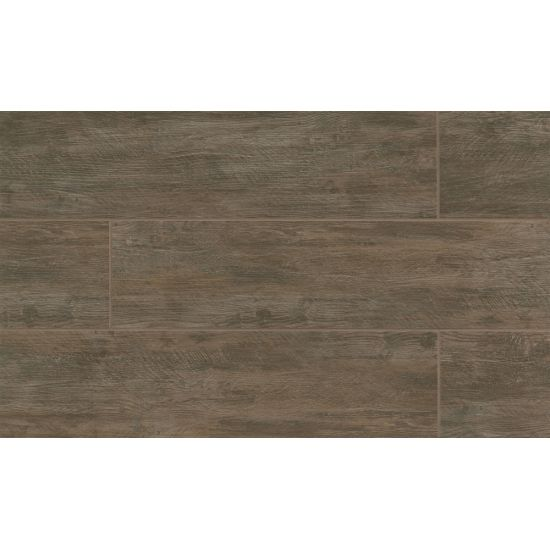 River Wood 8x36 Porcelain Tile in Walnut