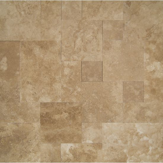 Bedrosians Travertine Serengeti Brown 16x24 Brushed & Straight edge Unfilled