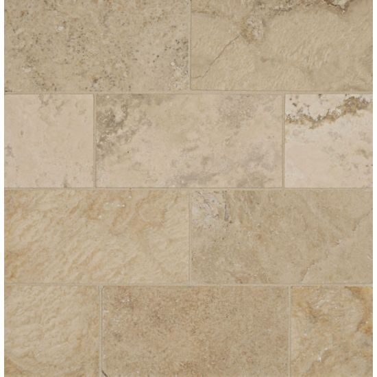Bedrosians Travertine Storm 3X6 Brushed