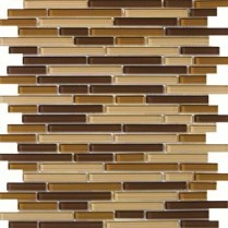 Emser Tile  GLASS - LUCENTE FILIGRAN LINEAR GLOSS BLEND MOSAIC 13X13 W80LUCEFI1313MOB