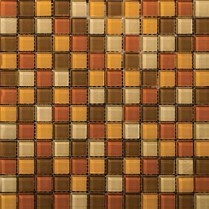 Emser Tile  GLASS - LUCENTE HARVEST AGLOW GLOSS BLEND MOSAIC 1X1/12.5X12.5 W80LUCEHA1212MOB