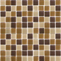 Emser Tile  GLASS - LUCENTE MOUNTAIN GLOSS BLEND MOSAIC 1X1/12.5X12.5 W80LUCEMO1212MOB
