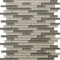 Emser Tile  GLASS - LUCENTE PELLESTRINA LINEAR GLOSS BLEND MOSAIC 13X13 W80LUCEPE1313MOB
